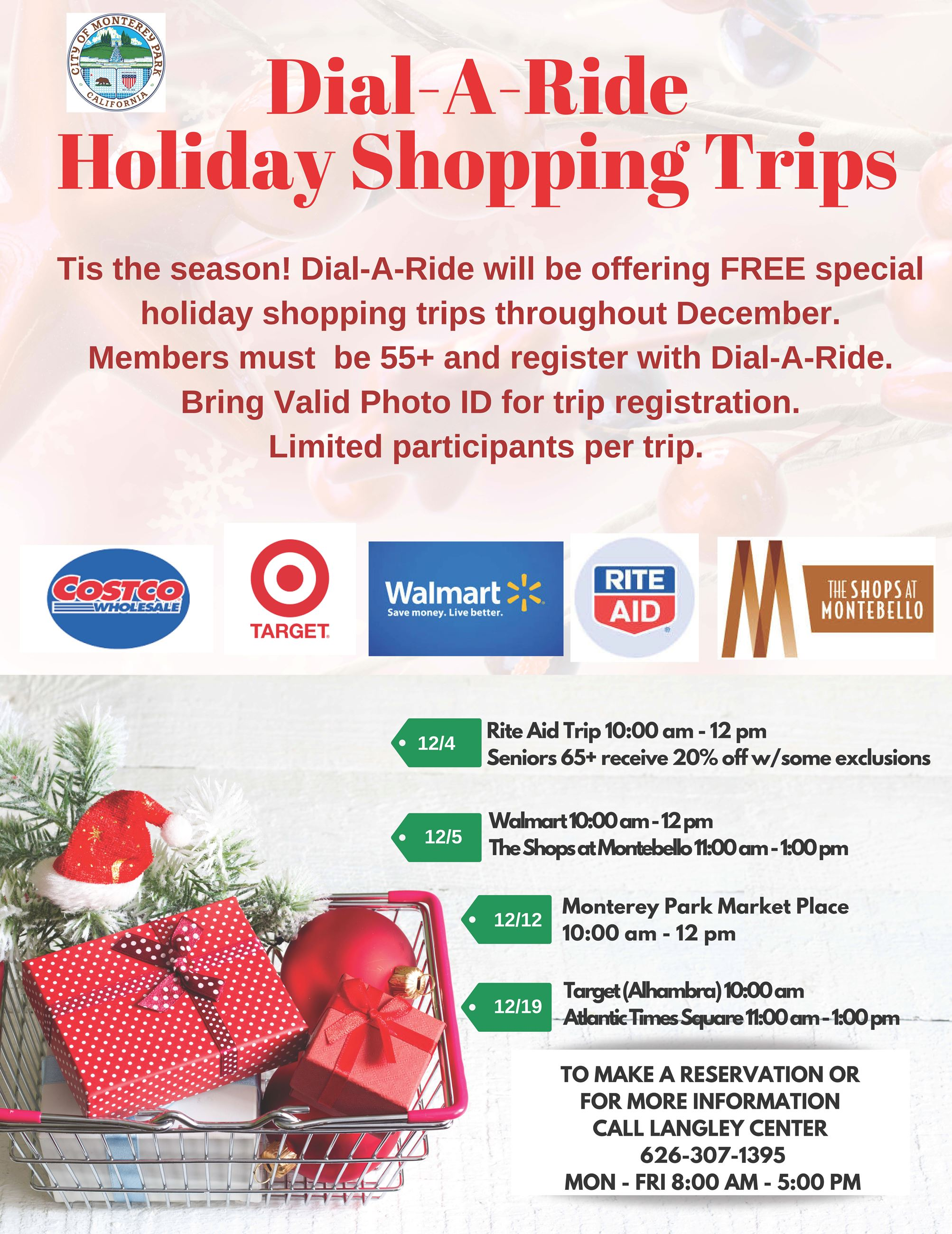 2019 DAR Holiday Shopping Trips