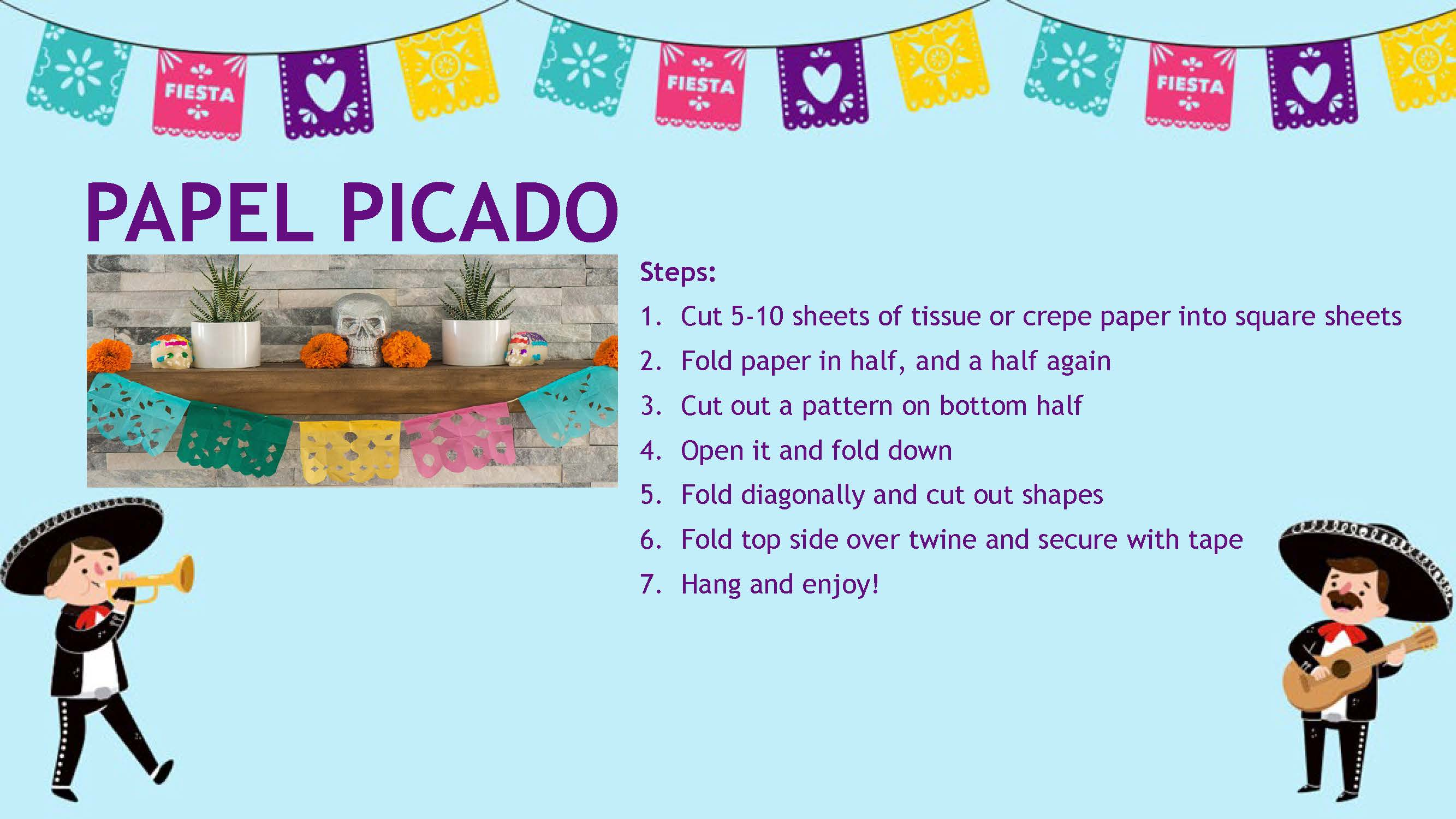Cinco de Mayo Fun Crafts - Papel Picado