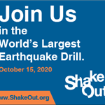 Fire Dept Shakeout 2020 join us graphic