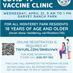 MPK COVID Vaccine Clinic 4-21-21 at Garvey Ranch Park