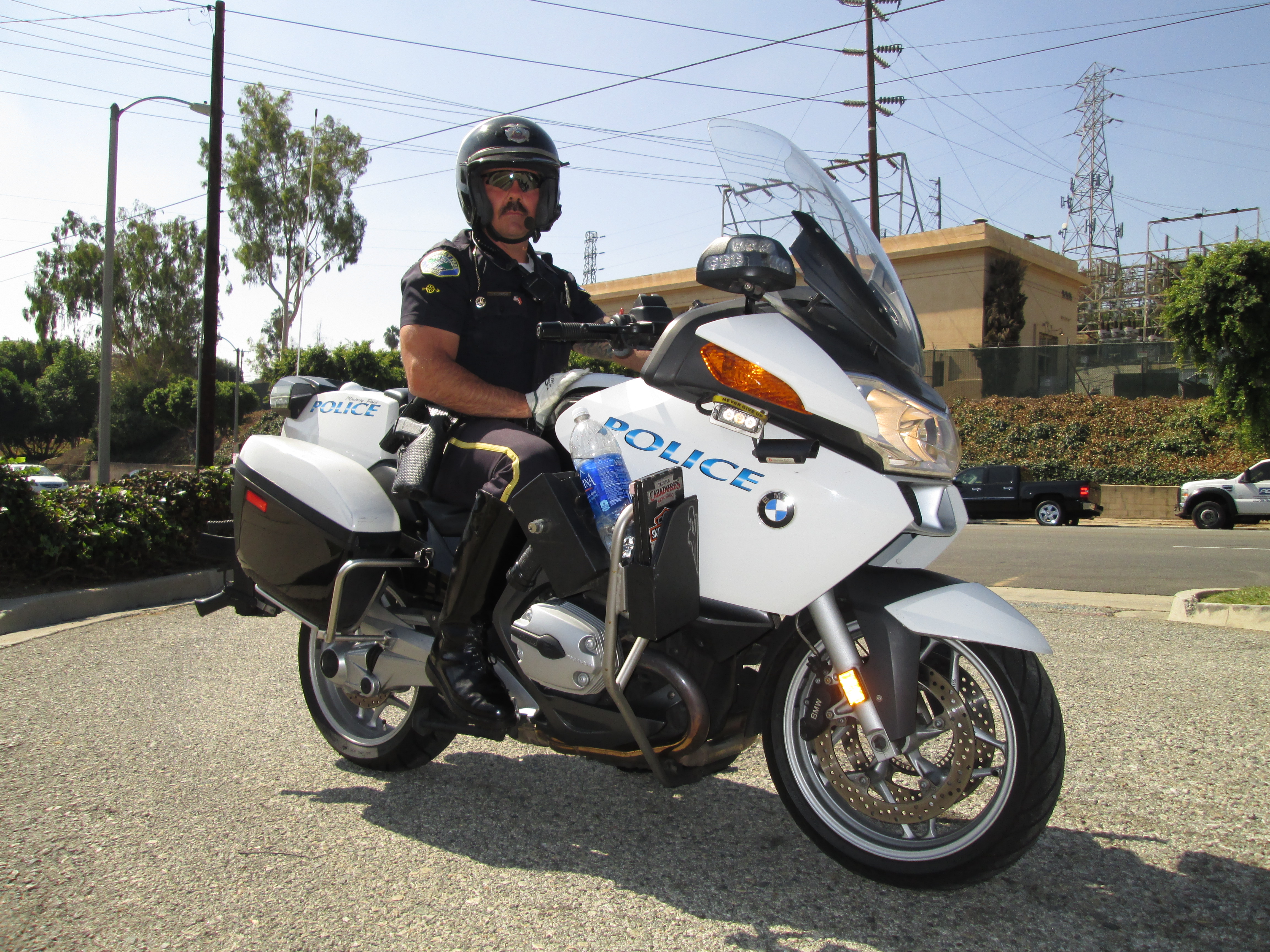 Officer on Motorcycle